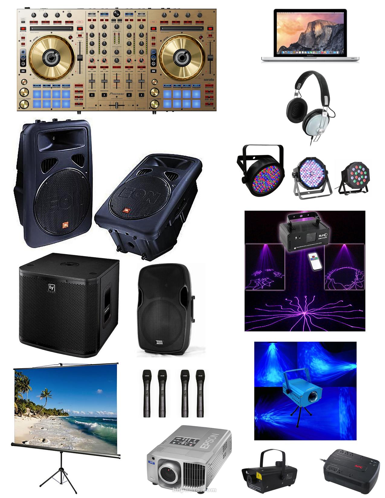 DJ Sound & Lighting, equipment-provided-dj-mike-strip